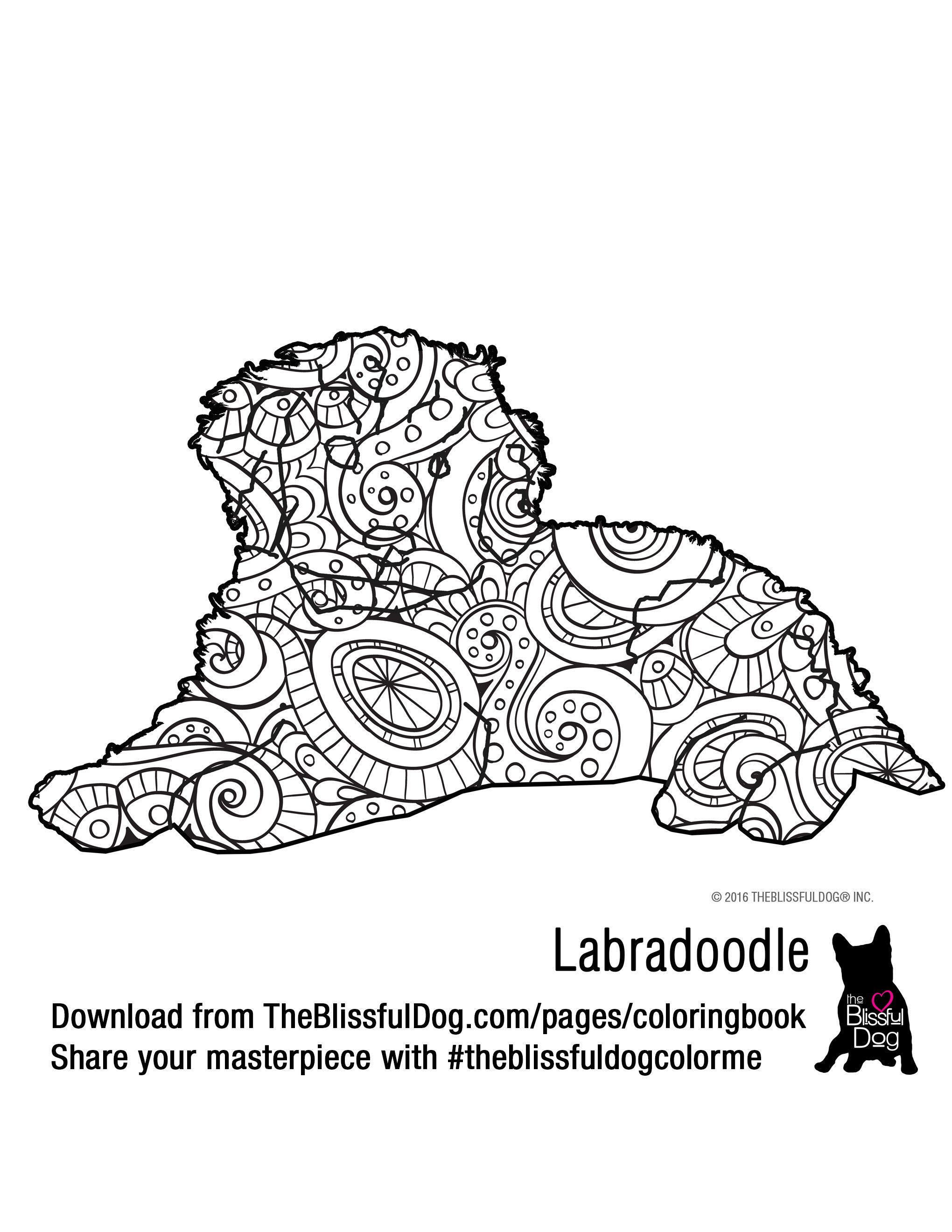 Coloring Book Labradoodle Coloring Books Dog Coloring Page