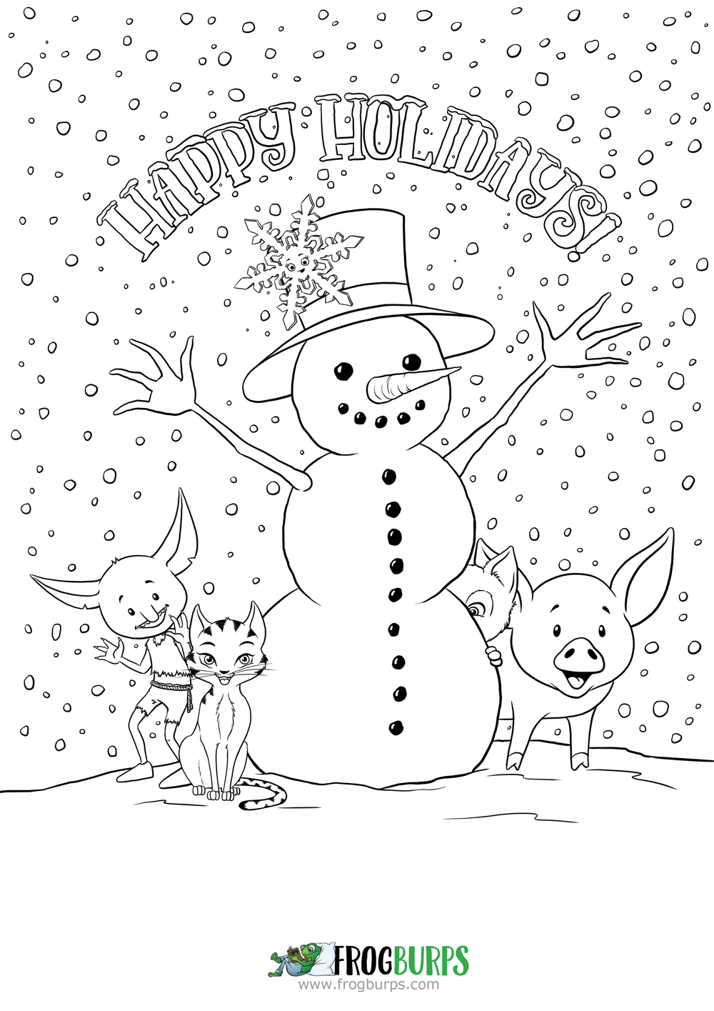 Gallery Happy Holidays   Coloring Page. Free coloring pages for children ... is free HD wallpaper.