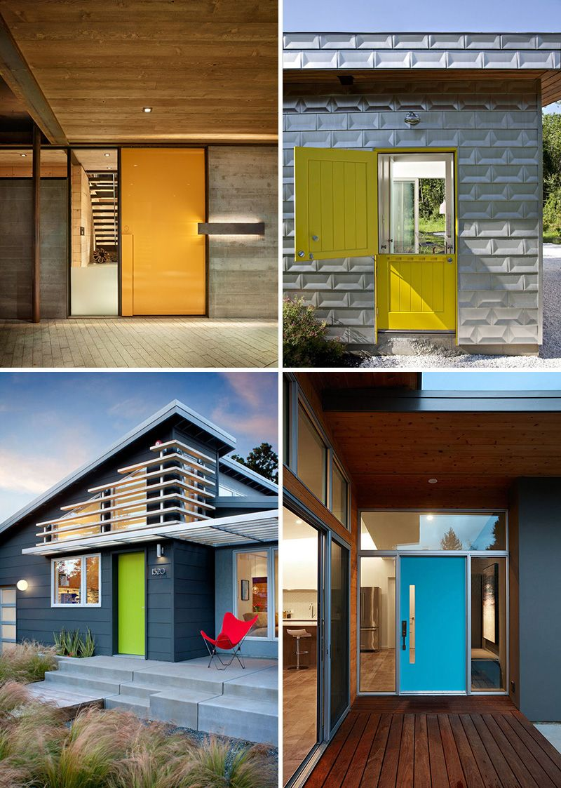 Mudroom Addition To Front Of House Yahoo Search Results: 7 Examples Of Colorful Front Doors That Brighten Up These Modern Homes