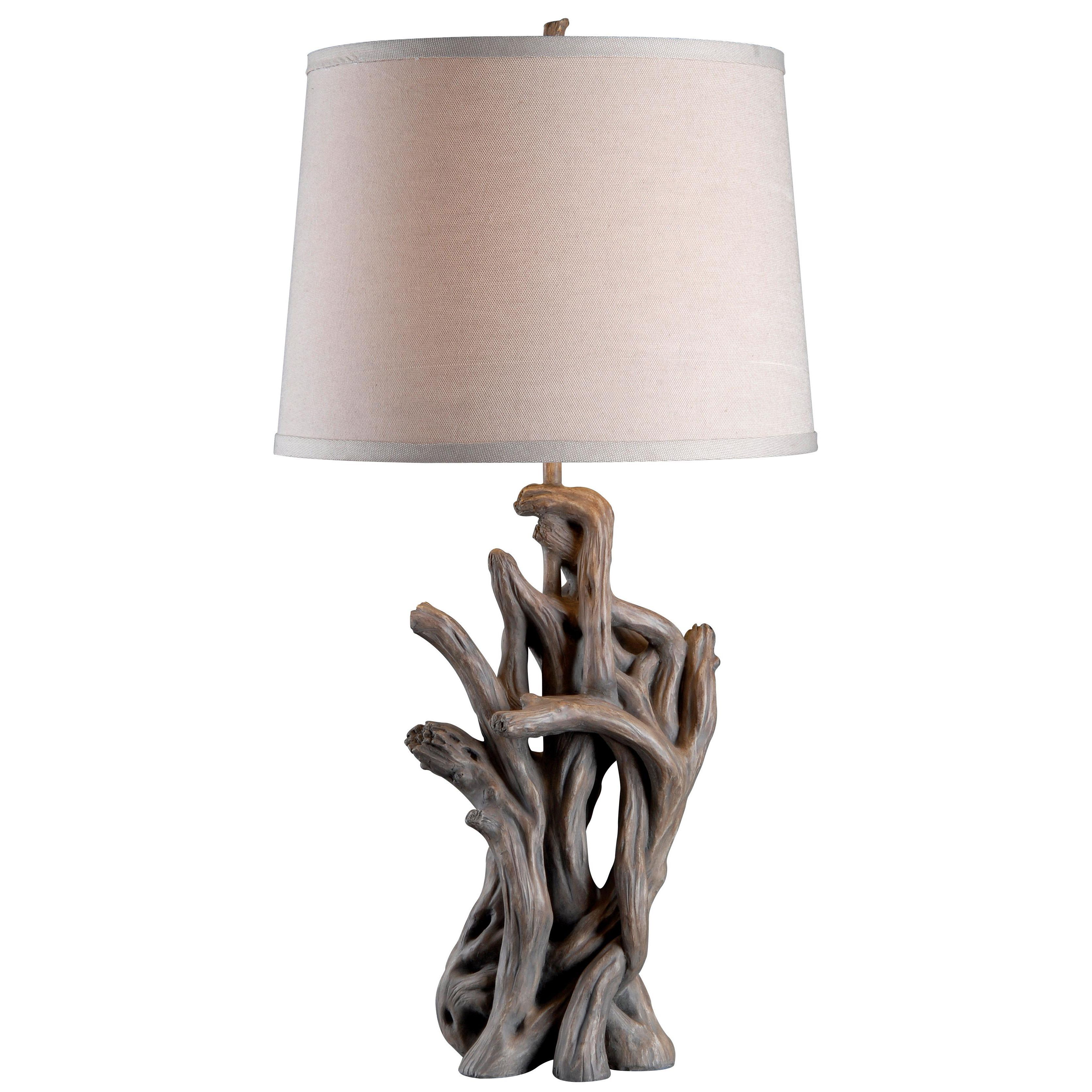 Alturas wood table lamp by design craft crafts great for Crafting wooden lamps