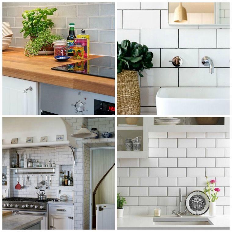 Weiße U-Bahnfliese oder dekorative Farbe für die Küche ...