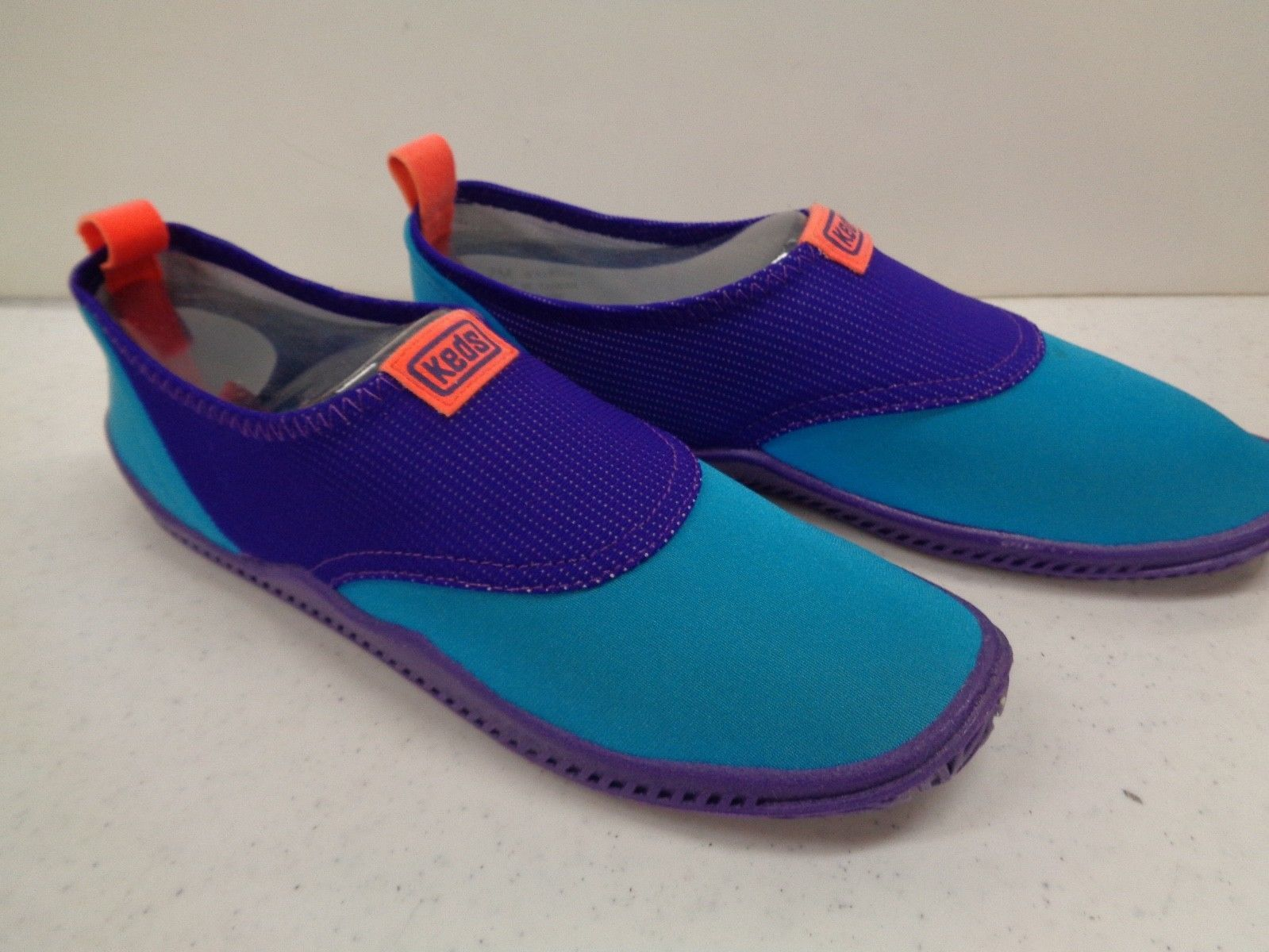 Keds RETRO Bright Skinny Dippers Women Beach Sock Blue & Purple Water Shoes NIB