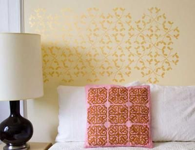 How to Paint with a Stencil Here\'s how to create a stencil design ...