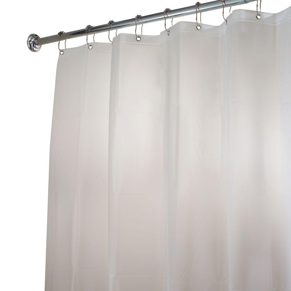 Interdesign Poly Extra Long Waterproof Shower Curtain Liner In