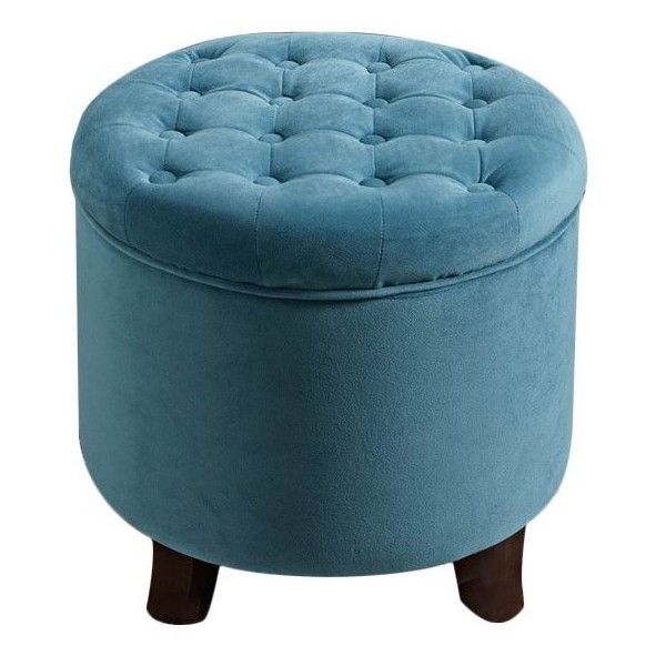 Beau Wilfred Round Storage Ottoman (88 CAD) Via Polyvore Featuring Home,  Furniture, Ottomans, Round Ottoman, Storage Furniture, Storage Ottomans,  Circular ...