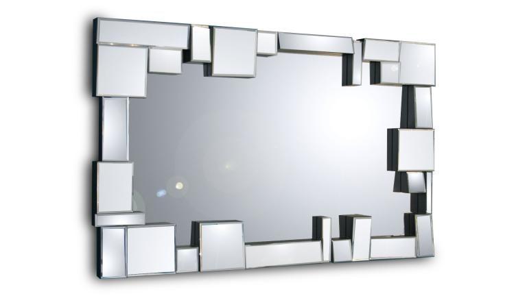 Miroir design contemporain multi-facettes - Belina | Miroir Déco ...