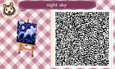 acnl night sky qr codes Tumblr Acnl paths, Animal