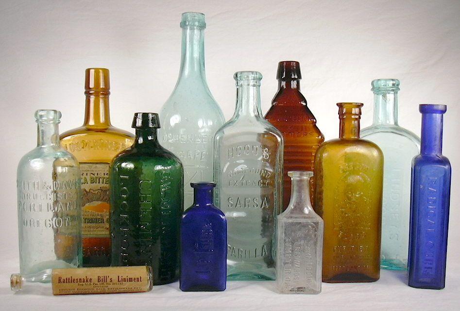 to identify bottles how vintage