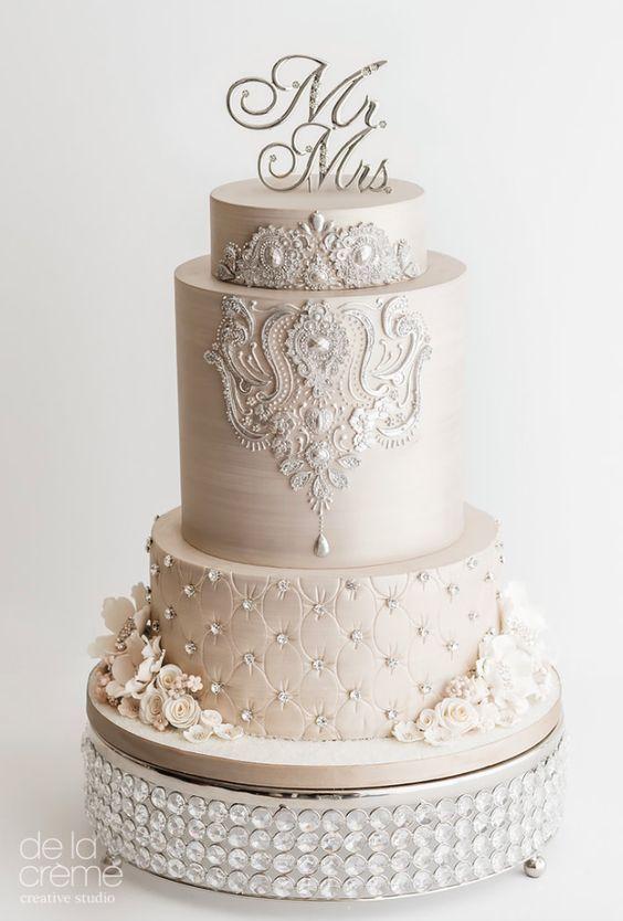De La Cr 232 Me Wedding Cake Inspiration Wedding Cake