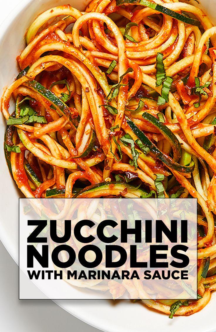 Healthy Recipes - Zucchini Noodles with Marinara Sauce