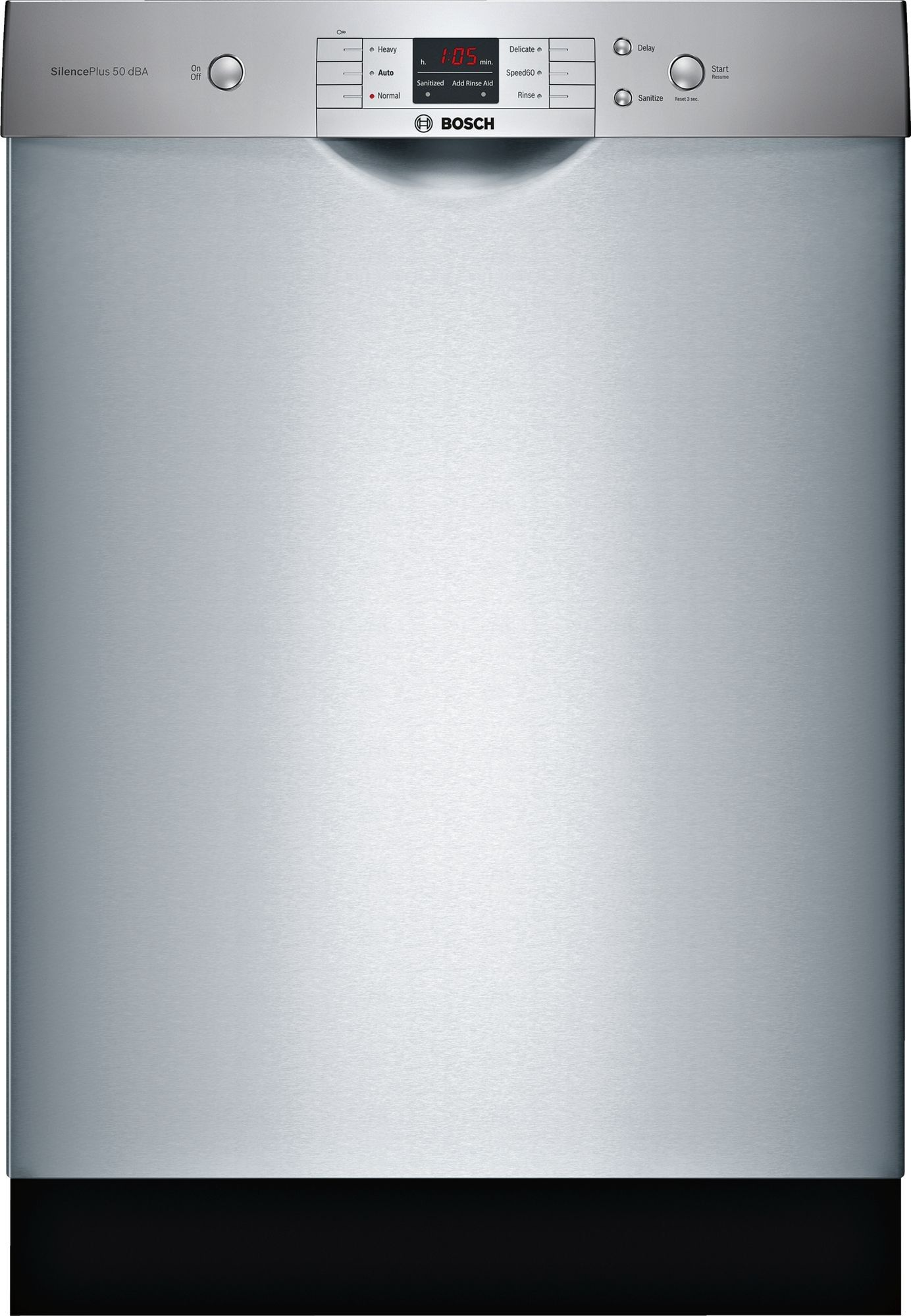 Bosch Shem3ay55n 24 Inch Full Console Built In Dishwasher With 14 Place Setting Capacity 6 Wash Cycles 50 Dba Sound Level Overflow Protection System Utilit Built In Dishwasher Steel Tub Bosch