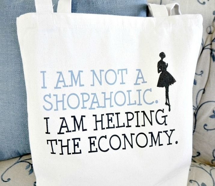 Shopaholic Tote Bag from Handmade and Craft on Etsy #giveaway