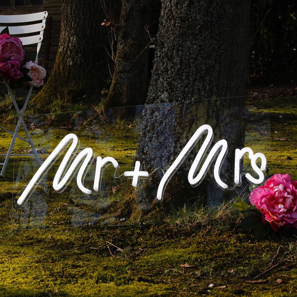 Mr And Mrs Wedding LED Neon Light Up Sign Light up signs