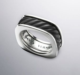 Mens Wedding Bands David Yurman Black Onyx Exotic Stone Ring 600