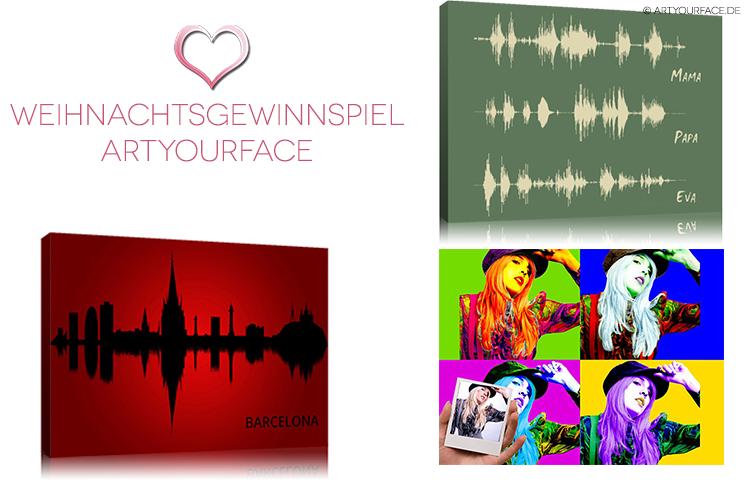 Weihnachtsgewinnspiel ArtyourFace - Gestern habe ich euch ja hiermein Pop Art Portrait vorgestellt. Beim Online-Shop Artyourface kann man sich aber nicht nur stylische Pop Arts und Karikaturen erstellen lassen, sondern auch Städtebilder und Stimmenbilder namens ArtyourVoice. Stadtportraits als stylisches Kunstwerk Gerade, wenn m... - http://www.vickyliebtdich.at/weihnachtsgewinnspiel_artyourface/