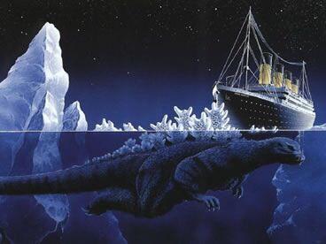 タイタニック号 ゴジラ 海獣 タイタニック ゴジラ