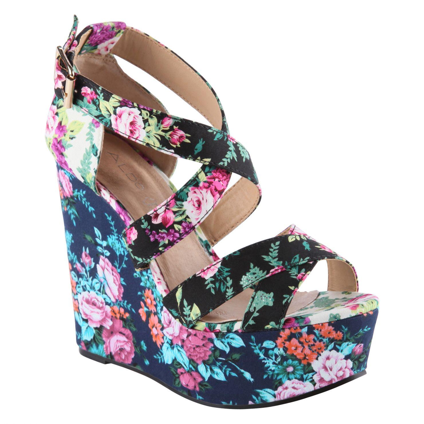573a1cc40160 Florals on shoes. Aldo.