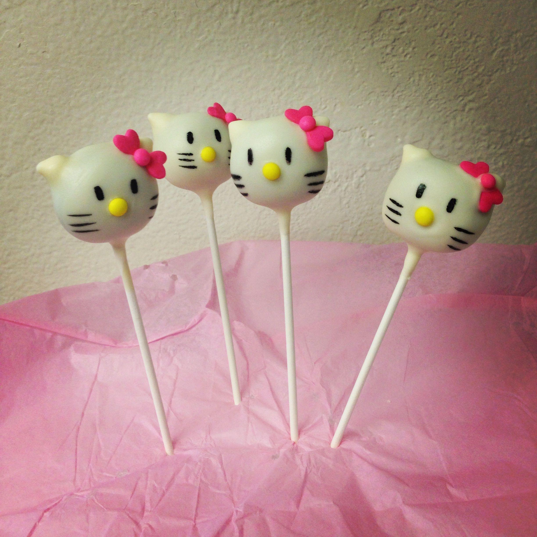 Hello kitty cake pops httpinstagramcomhoneybeescakepops