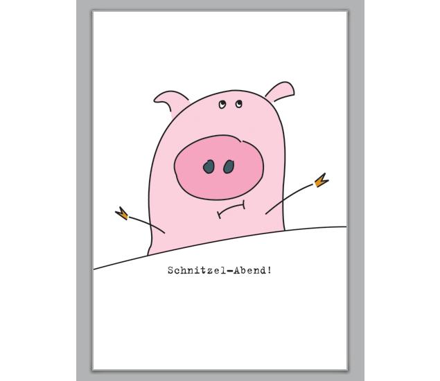 lustige einladungskarte zum schnitzel essen - http://www, Einladungskarten