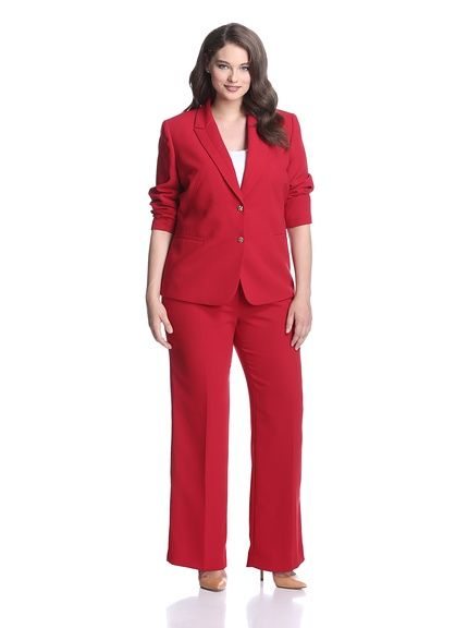 Tahari By Asl Plus Women S Pant Suit Fashions Fade Style Is