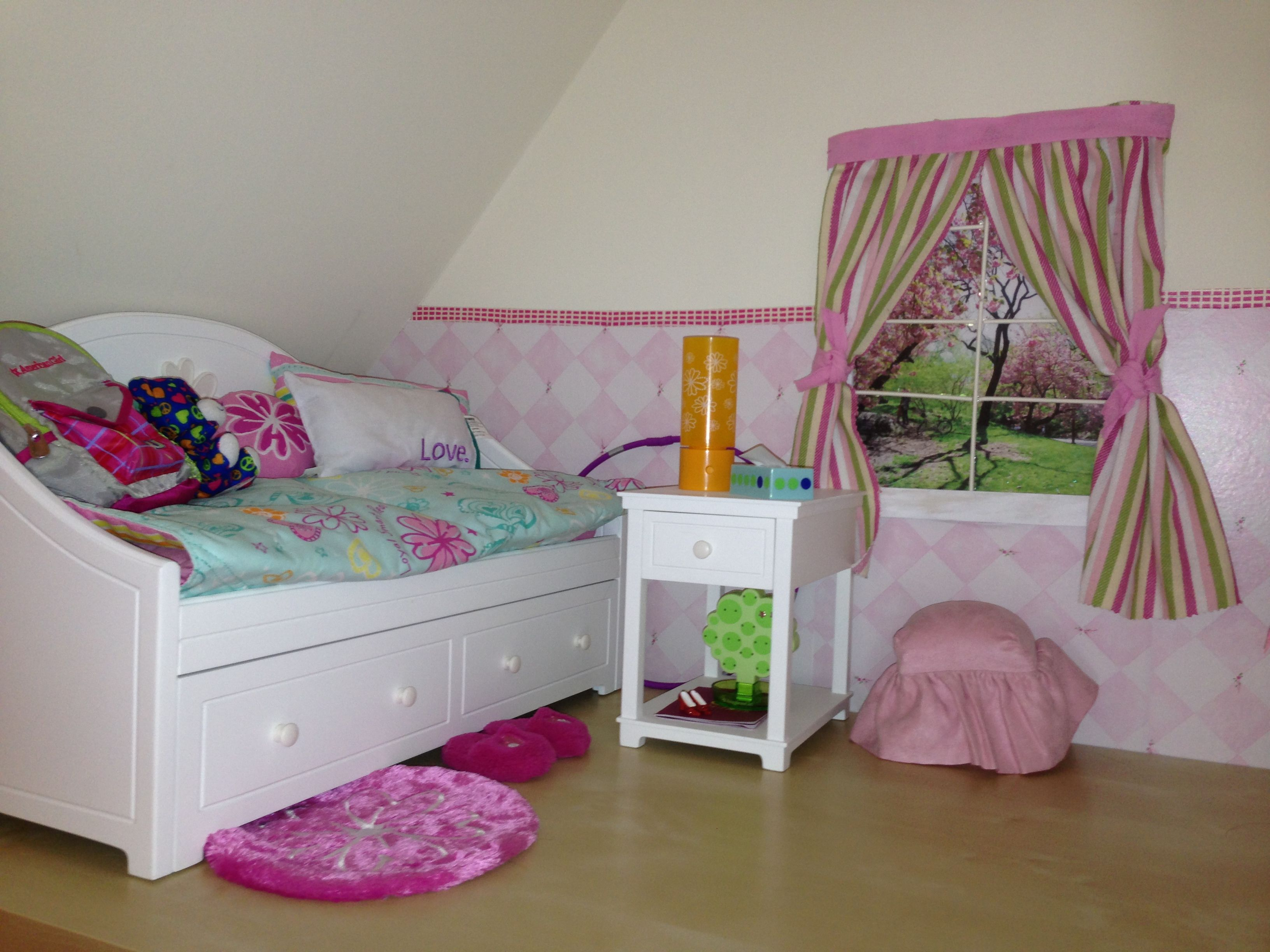 Bedroom for american girl doll american girl doll stuff - Stuff for girls rooms ...