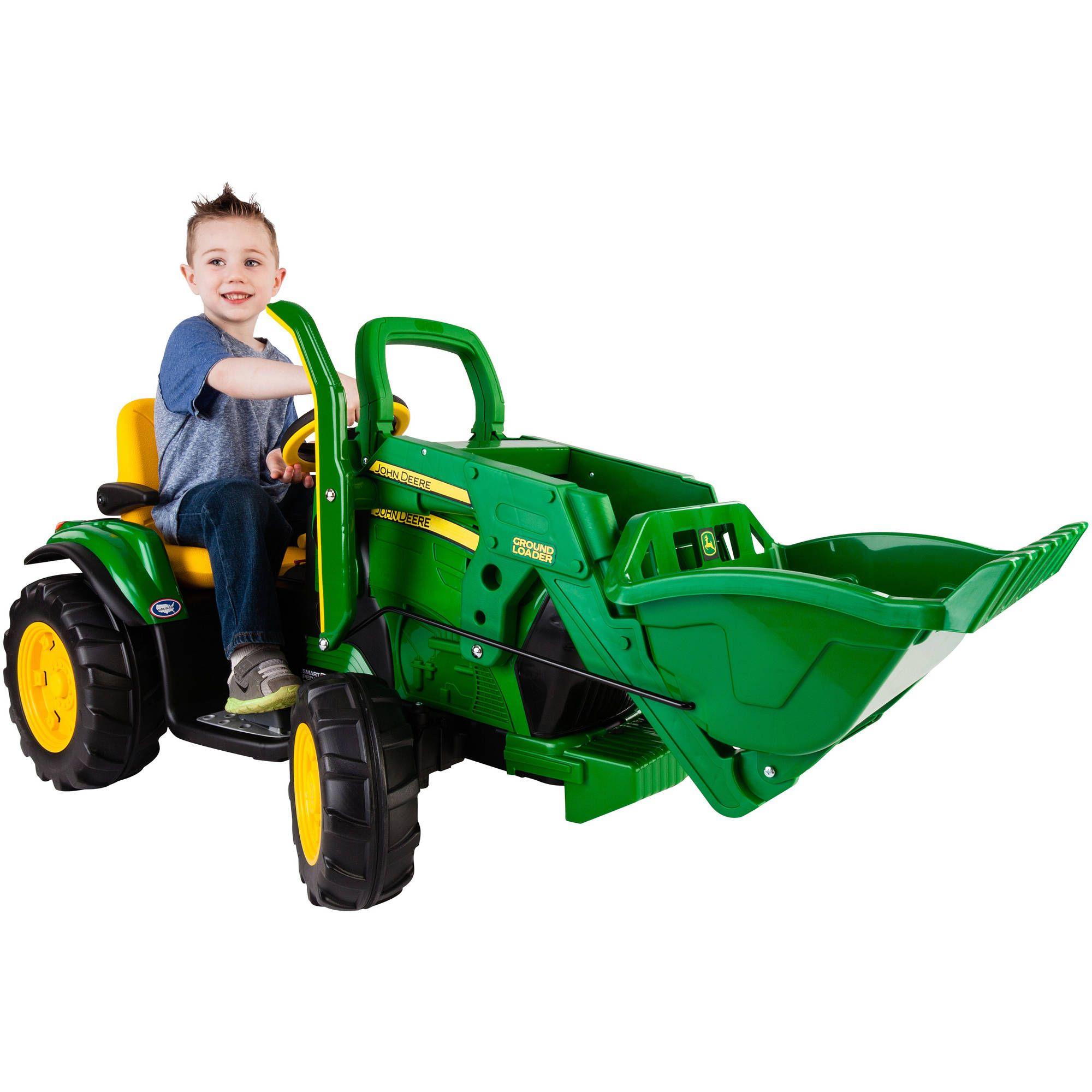 2 Wheel Toy Trailer John Deere Stake-Side Trailer Peg Perego