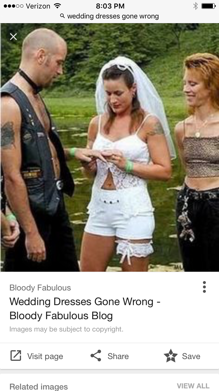 Wedding dresses gone wrong  Pin by Lexie Mcnamara on S u m m e r P a r t i e s  Pinterest