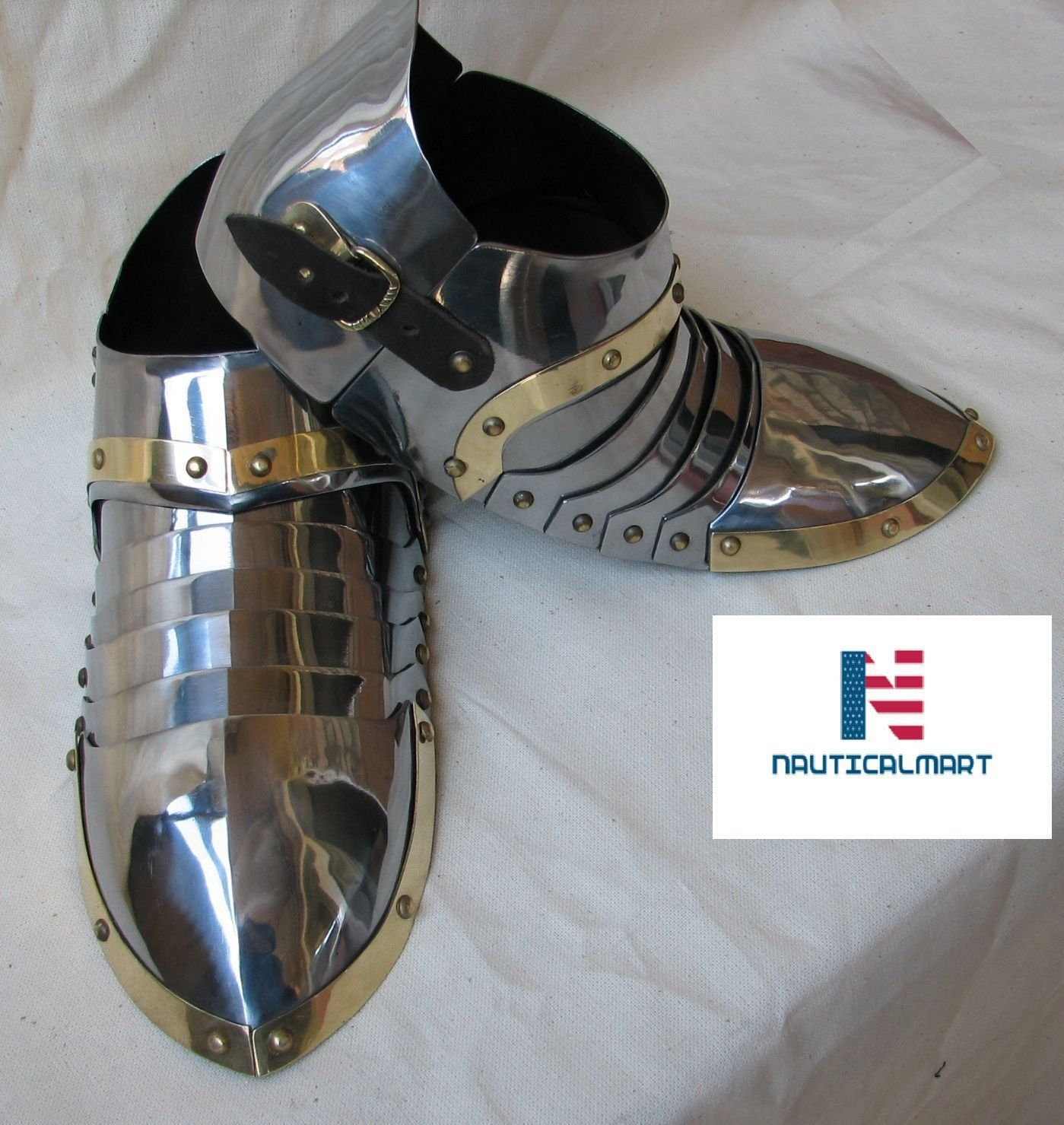 9eaef533d42ca Nauticalmart Plate Armour Medieval MEDIEVAL SABATONS SET MEDIEVAL ...