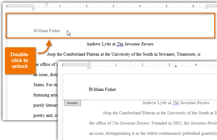 How To Create First Page Different Headers In Word 2013 For