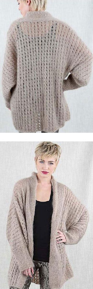 Free Knitting Pattern Women\'s Cosy Jacket | Knitting patterns ...