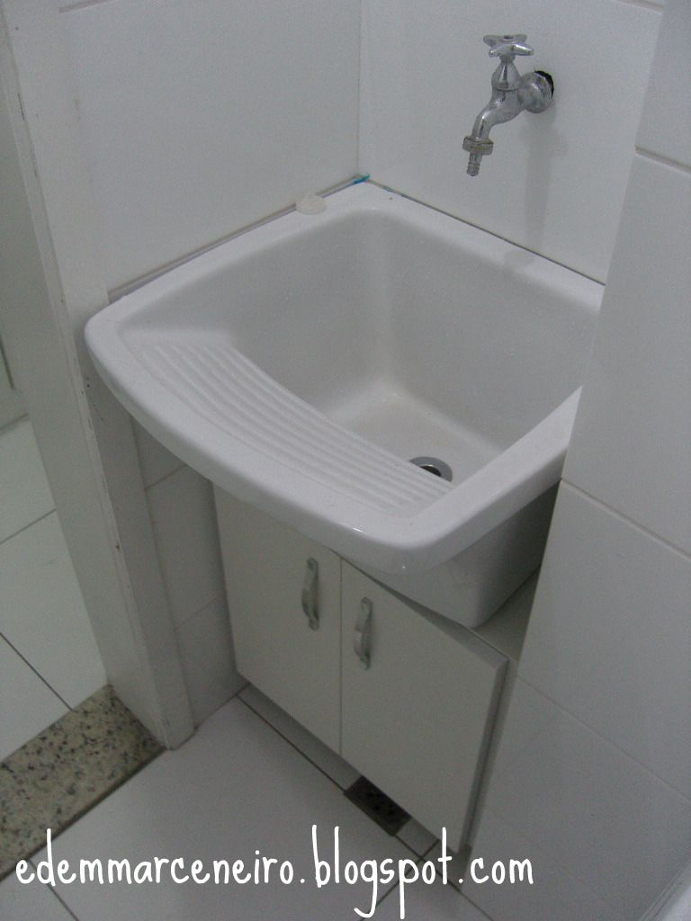 Edem marceneiro arm rio sob o tanque de lavar roupas - Armarios para lavaderos ...