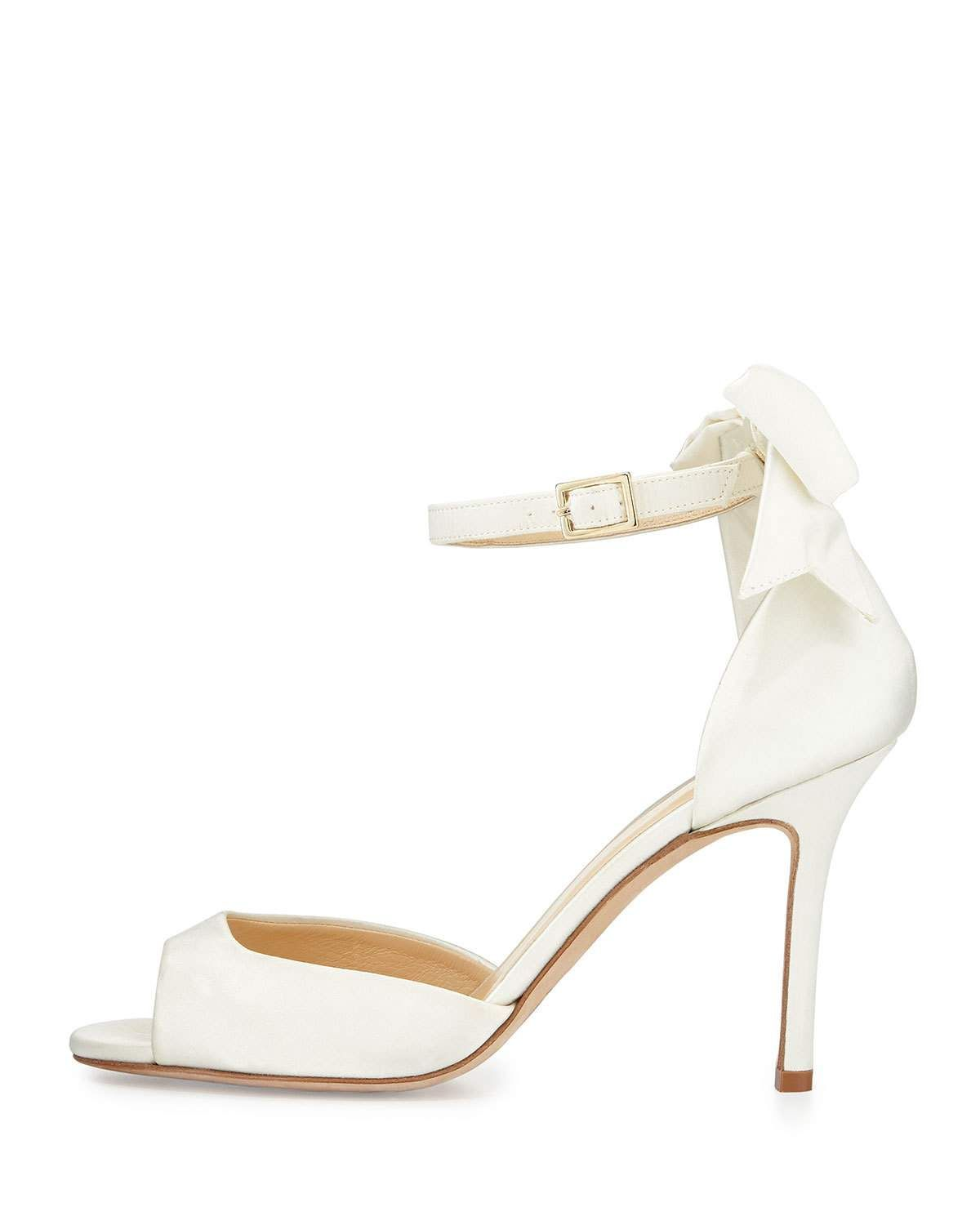 e7ba588c8b Izzie bow-back satin d'orsay pumps ivory | Products | Bow back ...