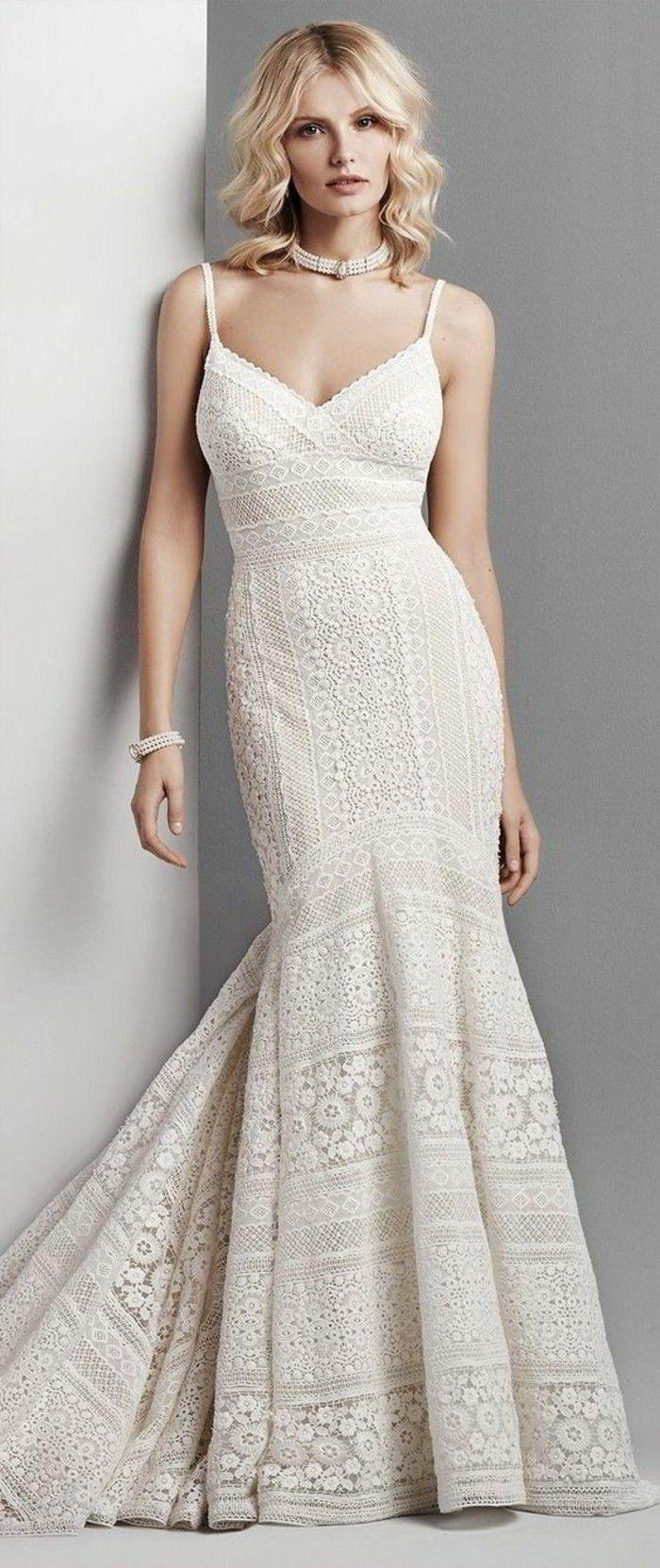 brautkleid spitze boho stil | Hochzeitskleider | Pinterest | Pullover