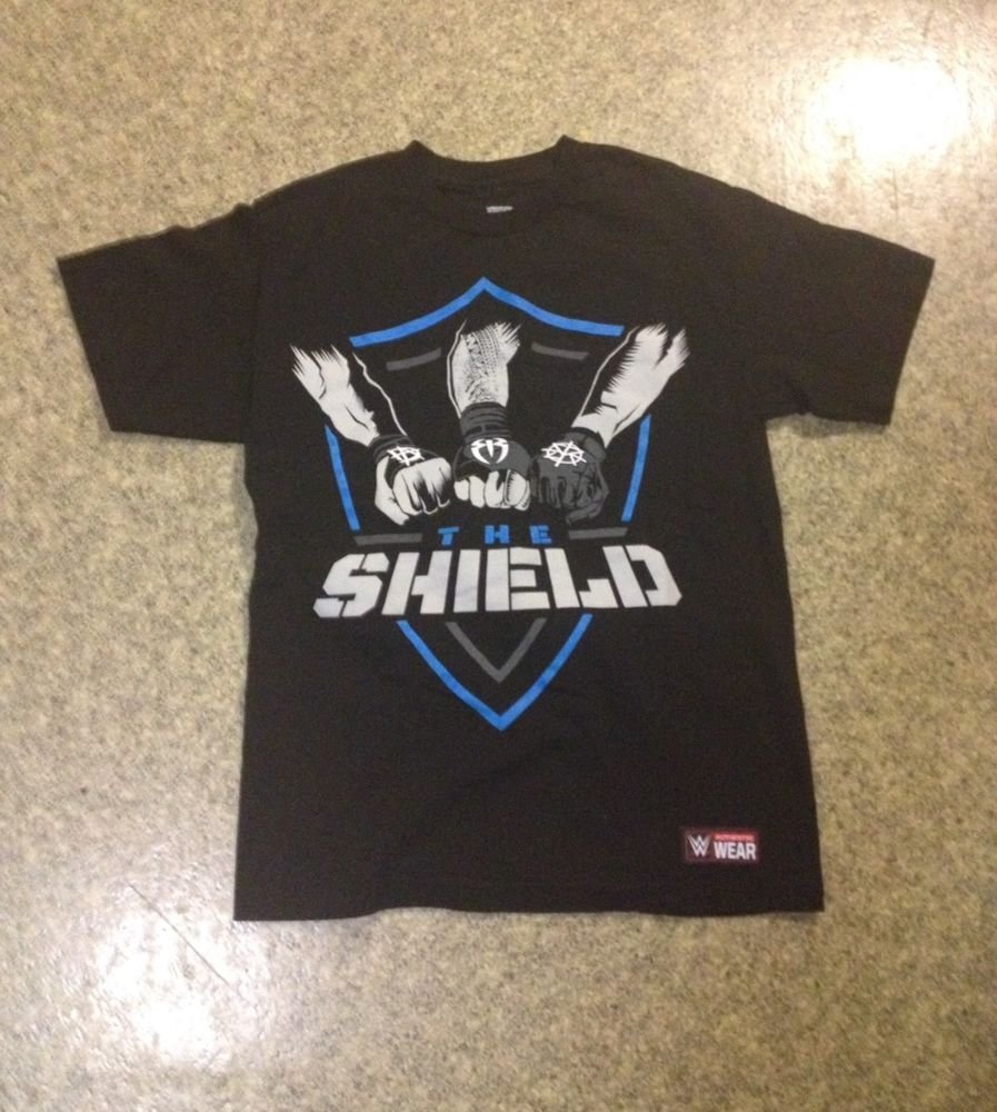 3d1ac488 WWE Mens Black T-shirt Size M The Shield Short Sleeves Authentic WWF # fashion #clothing #shoes #accessories #mensclothing #shirts (ebay link)