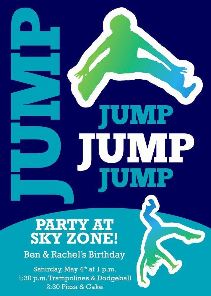 sky zone birthday invitation template