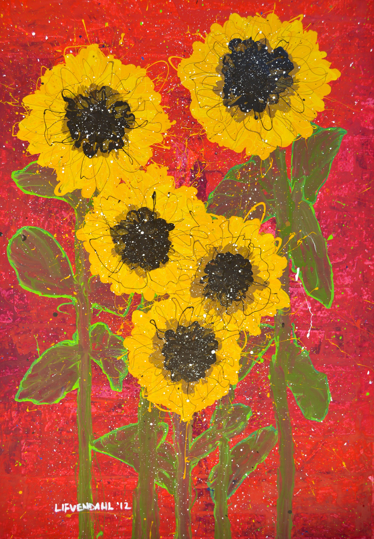 Mark Lifvendahl, Crimson Summer, 2012, 7'x5'