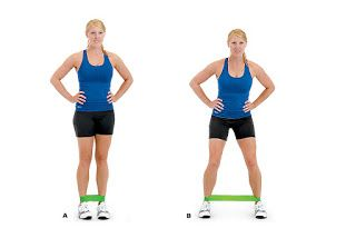 Fitness Workouts Resistance Band Leg Glute Workout Resistance