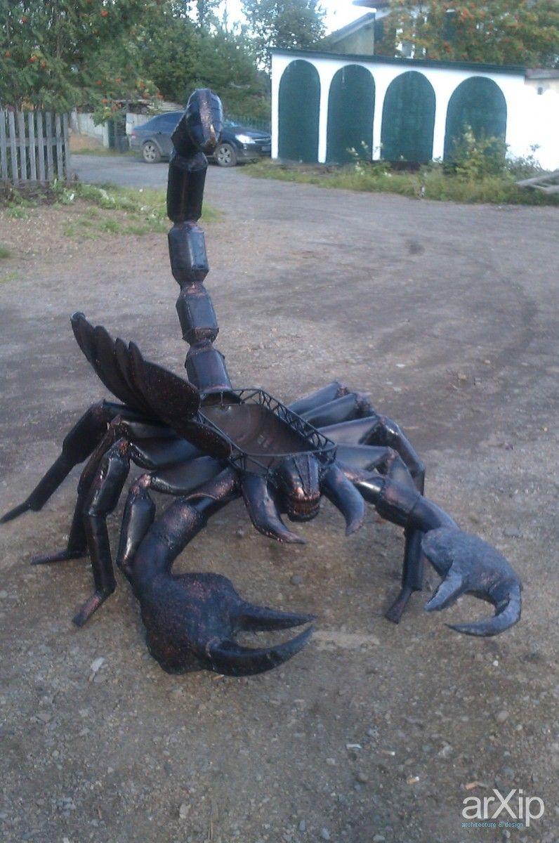 """Мангал """"Скорпион"""": скульптура, анимализм, садово-парковая скульптура, металл, ковка #sculpture #animalism #landscapesculpture #metal #forging #hammering #malleation arXip.com"""