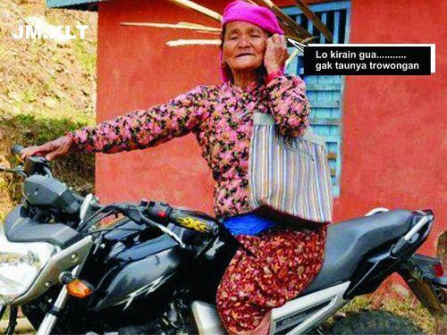 101+ Gambar Lucu Nenek Kekinian