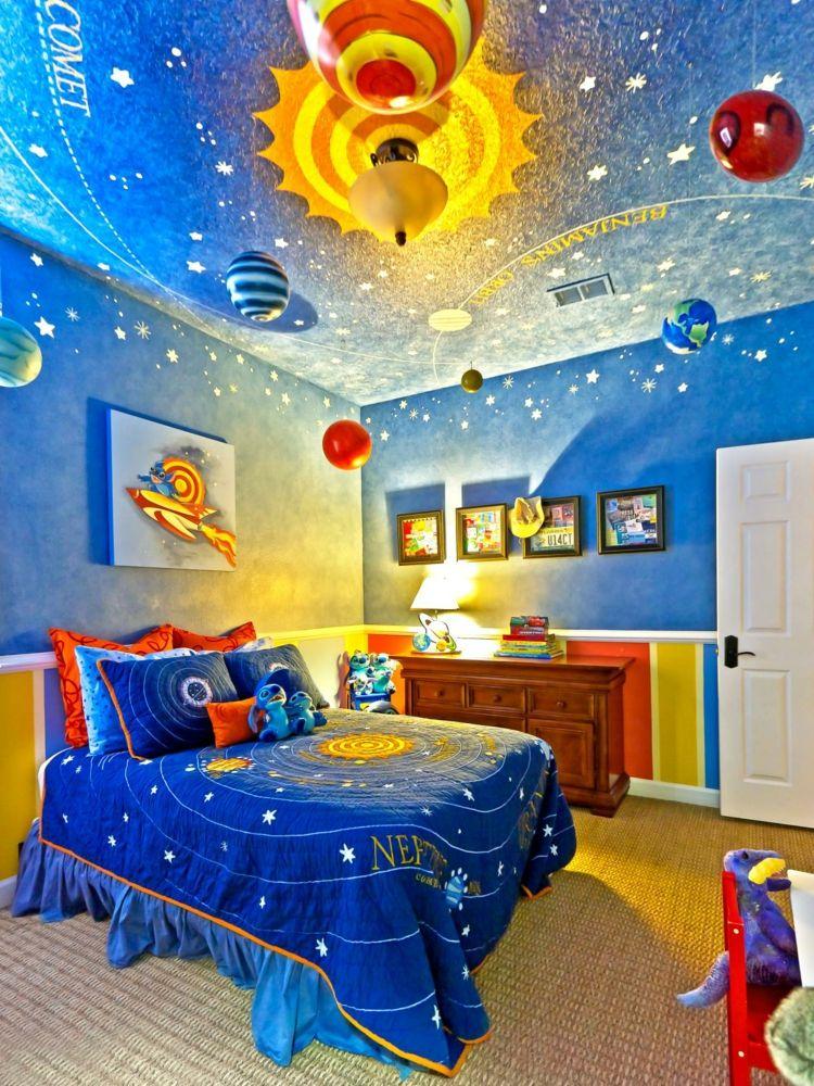 Kinderzimmer Idee Mit Dem Weltraum Als Thema
