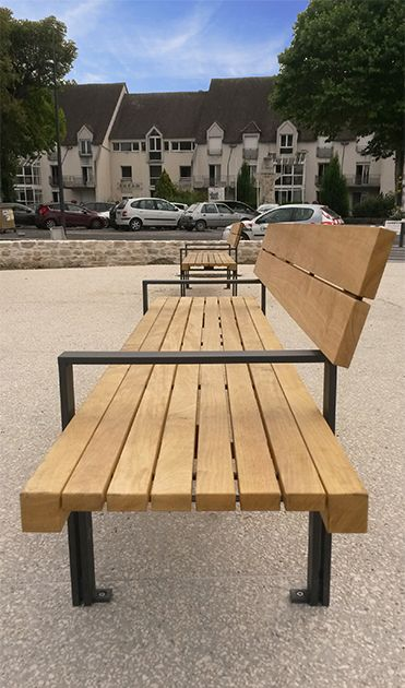 guyon banc en bois linea mobilier urbain street furniture pinterest street furniture and. Black Bedroom Furniture Sets. Home Design Ideas