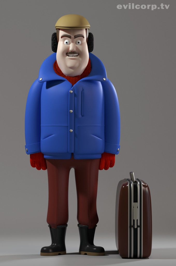 John Candy Character Caricature Concept From Planes