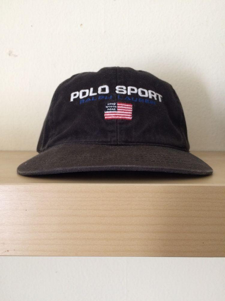 05d64a31be5 Vintage Polo Sport Ralph Lauren Stadium 1992 Cap Hat Strapback lolife 6  Panel