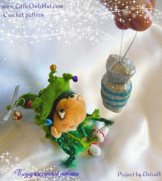 Project by ElviraA. Doll Marie the Christmas tree crochet pattern by Pertseva for LittleOwlsHut # Doll #Marie #the Christmas tree # crochet pattern# Pertseva# LittleOwlsHut# crafts & DIY