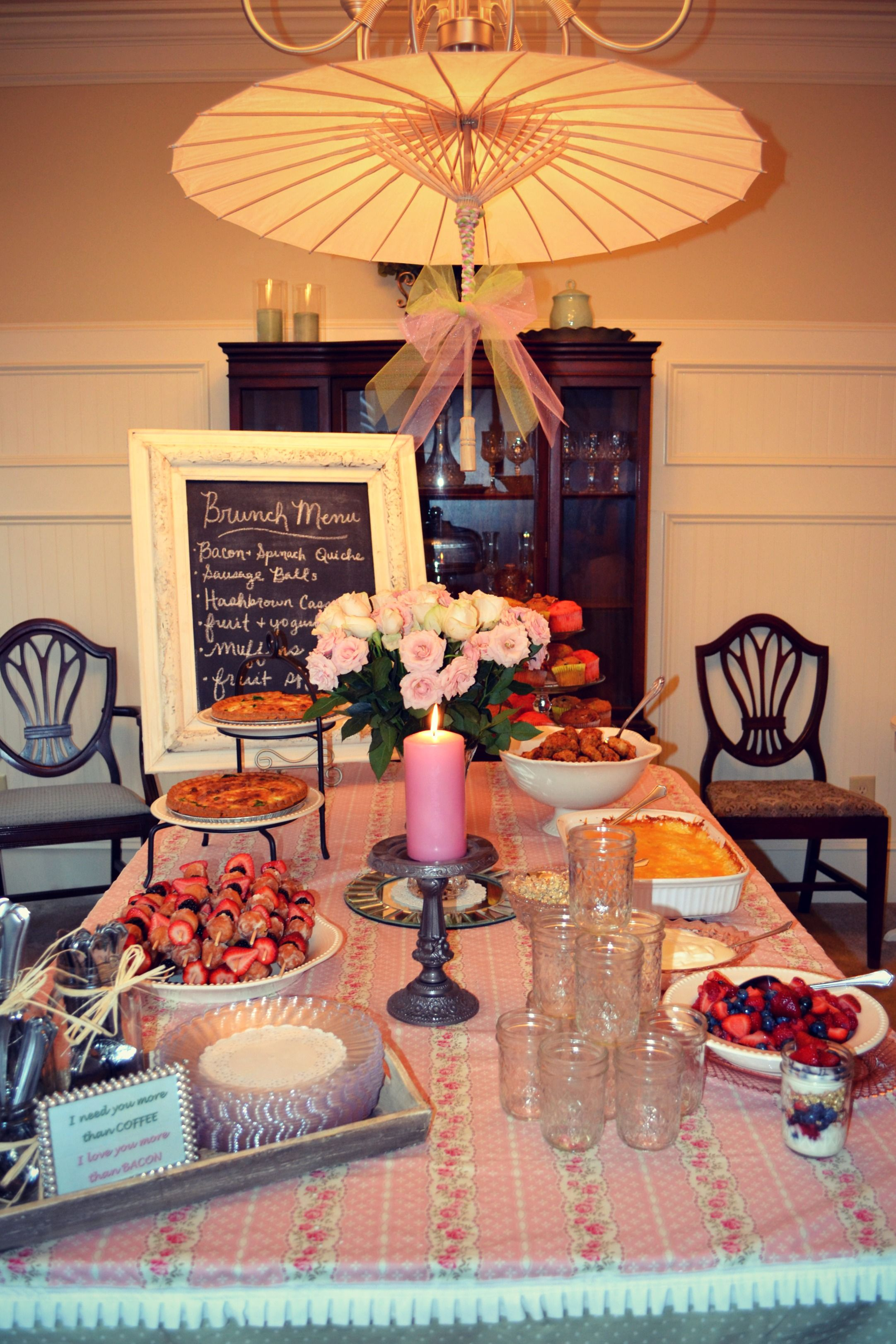 Ladies Brunch By Southern Touch Hospitality Love The Menu Idea And Mason Jar For