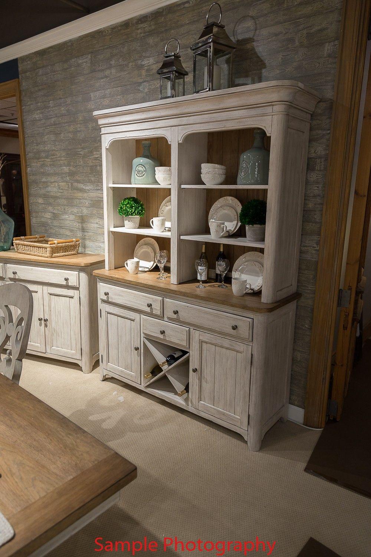 Farmhouse Reimagined Antique White Hutch White furniture