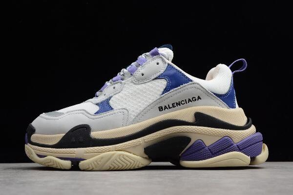 Balenciaga Tripe-S Sneaker Grey Purple White Black Dad Shoes For Sale 4d6d5fa19f12