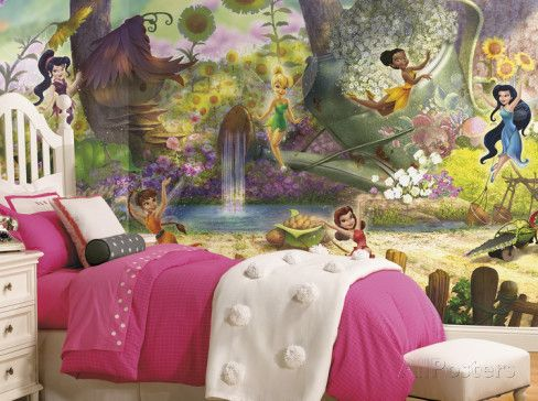Exceptional Disney Fairies Pixie Hollow Mural Part 4