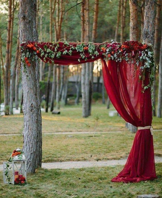 Oak Arbor Reception: 32 Beautiful Fall Wedding Arches And Altars