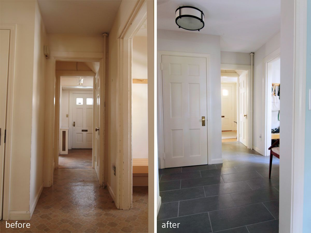 Painting tile floors before and after choice image home flooring painting tile floors before and after laundry room makeover painting tile floors before and after marialoaizafo dailygadgetfo Images